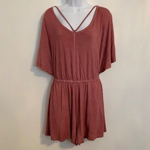 Dusty Pink Romper By American Eagle. Size Medium